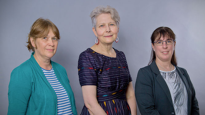 Petra Schnittger, Kathrin Simon, Bianca Narjes (von links nach rechts)